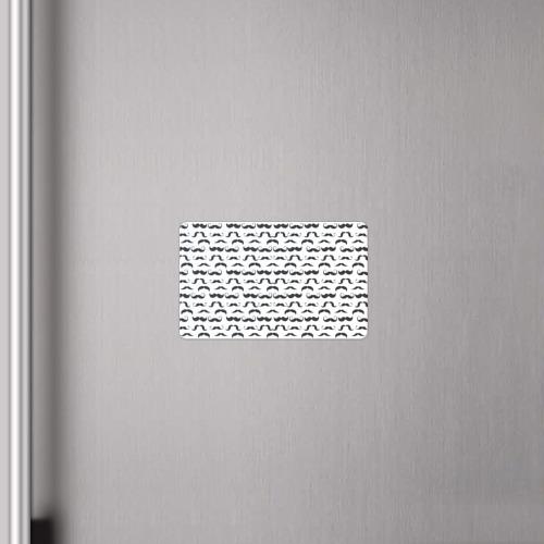 Магнит виниловый Visa  Фото 04, Усы хипстера паттерн