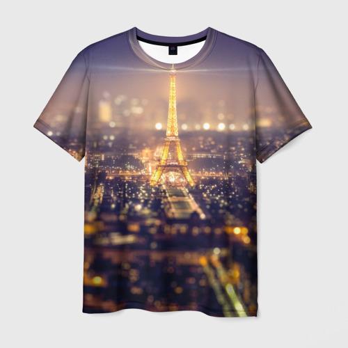 Мужская футболка 3D  Фото 01, Эйфелева башня