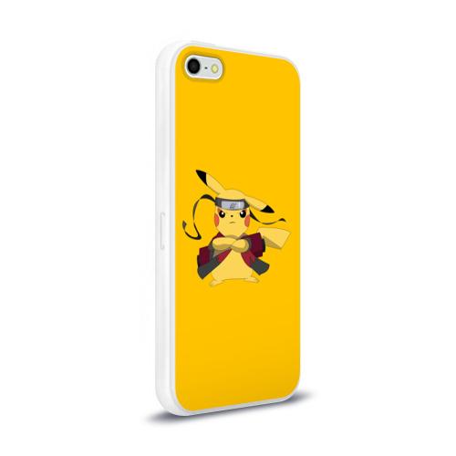Чехол для Apple iPhone 5/5S силиконовый глянцевый  Фото 02, Pikachu (Naruto Sage Mode)