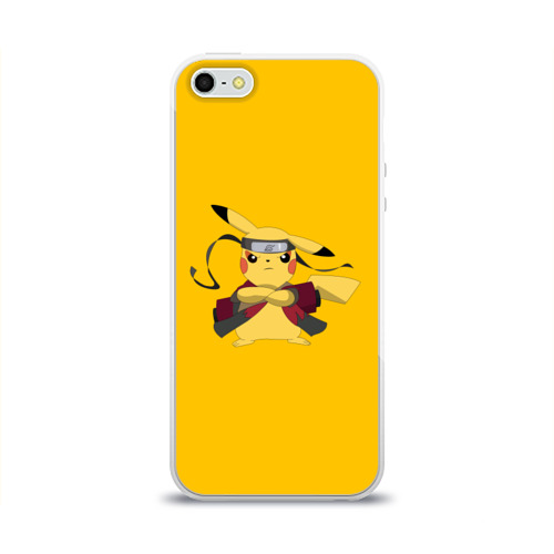 Чехол для Apple iPhone 5/5S силиконовый глянцевый  Фото 01, Pikachu (Naruto Sage Mode)