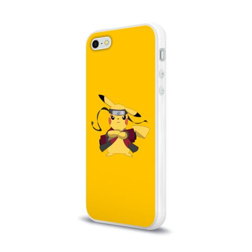 Чехол для Apple iPhone 5/5S силиконовый глянцевый  Фото 03, Pikachu (Naruto Sage Mode)