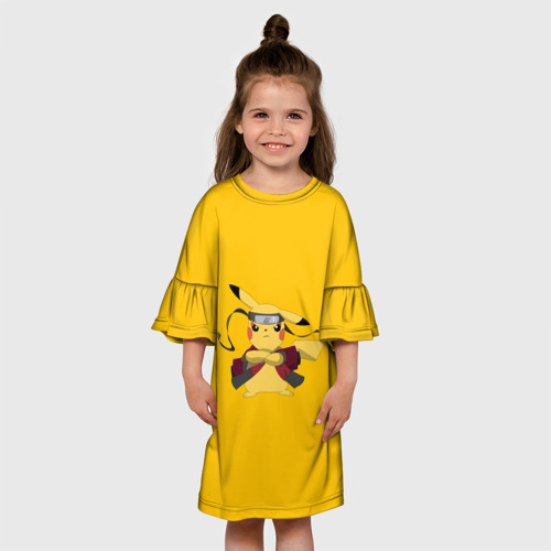 Детское платье 3D  Фото 01, Pikachu (Naruto Sage Mode)