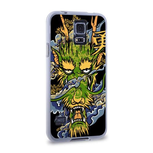 Чехол для Samsung Galaxy S5 силиконовый  Фото 02, Зеленый дракон