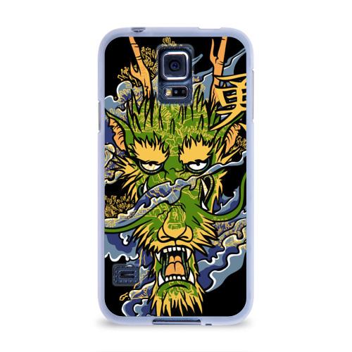 Чехол для Samsung Galaxy S5 силиконовый  Фото 01, Зеленый дракон