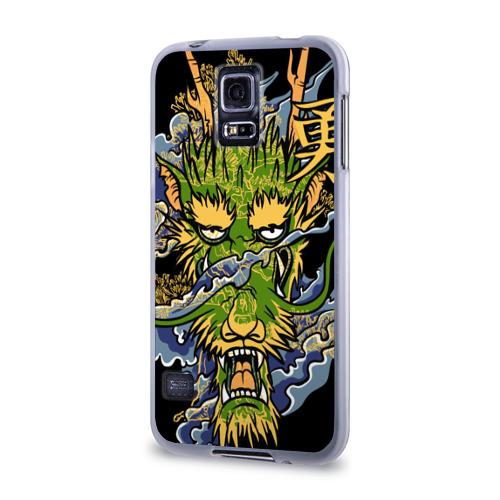 Чехол для Samsung Galaxy S5 силиконовый  Фото 03, Зеленый дракон