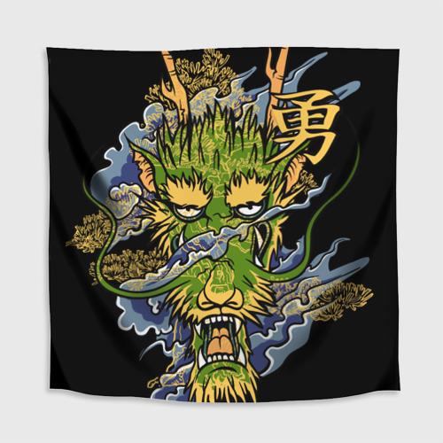 Скатерть 3D  Фото 02, Зеленый дракон