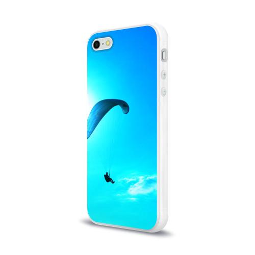 Чехол для Apple iPhone 5/5S силиконовый глянцевый  Фото 03, Прыжок