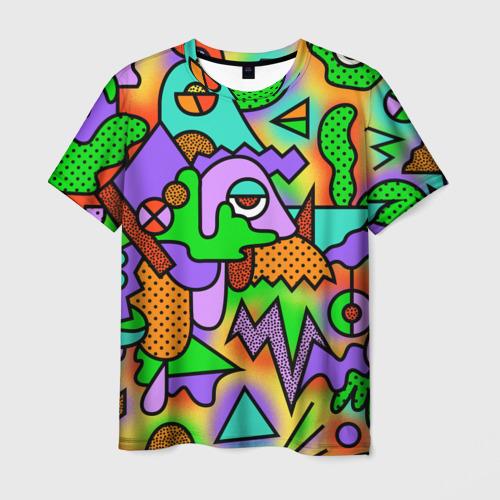 Мужская футболка 3D  Фото 01, Прекрасный орнамент