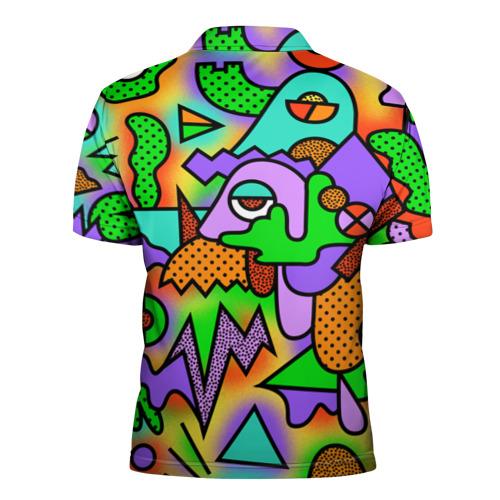 Мужская рубашка поло 3D  Фото 02, Прекрасный орнамент