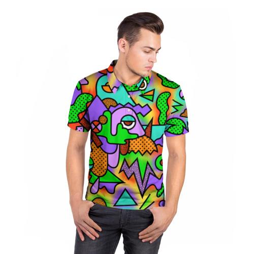 Мужская рубашка поло 3D  Фото 05, Прекрасный орнамент