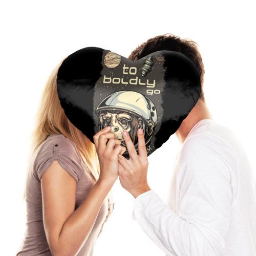 Подушка 3D сердце  Фото 03, Космо мартышка