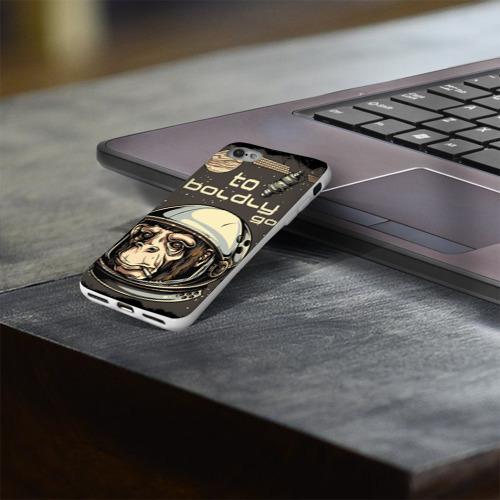 Чехол для Apple iPhone 8 силиконовый глянцевый  Фото 03, Космо мартышка