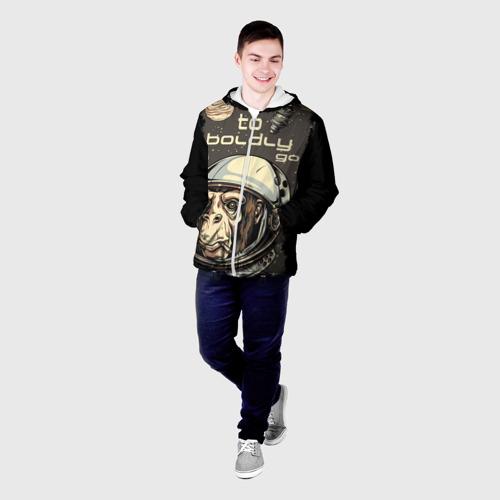 Мужская куртка 3D  Фото 03, Космо мартышка