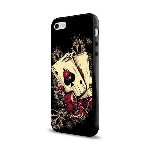Чехол для Apple iPhone 5/5S силиконовый глянцевый Карты дьявола Фото 01