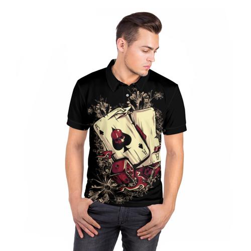 Мужская рубашка поло 3D Карты дьявола