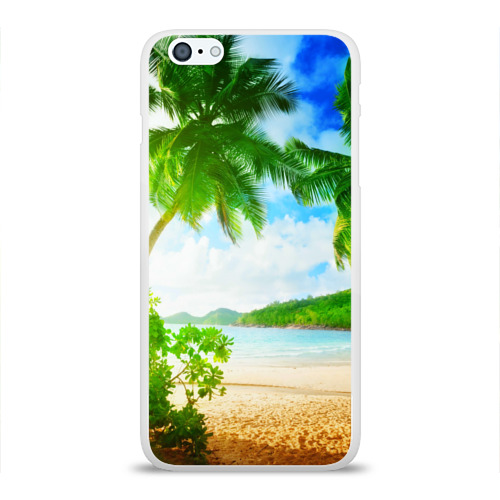 Чехол для Apple iPhone 6Plus/6SPlus силиконовый глянцевый  Фото 01, Тропики