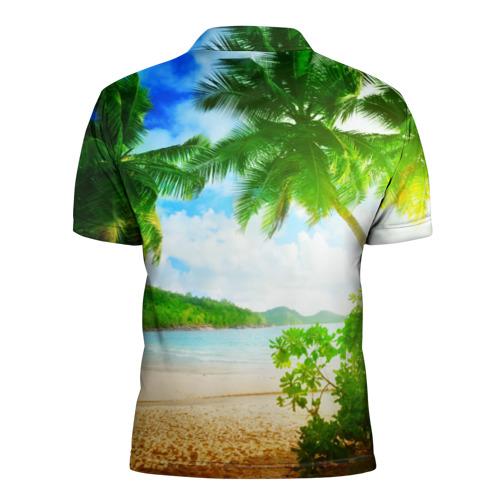 Мужская рубашка поло 3D  Фото 02, Тропики