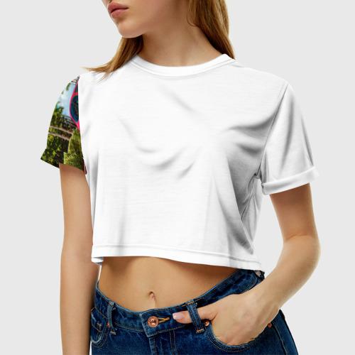 Женская футболка 3D укороченная  Фото 01, Porsche