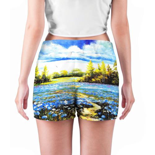 Женские шорты 3D  Фото 04, Поле цветов