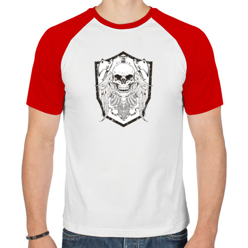 Мужская футболка реглан  Фото 01, Череп с топором