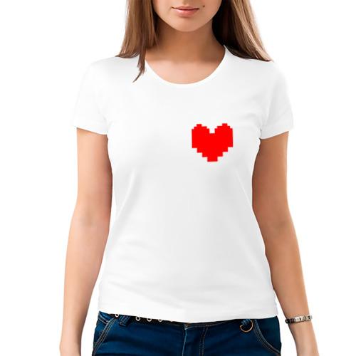 Женская футболка хлопок  Фото 03, Undertale Heart
