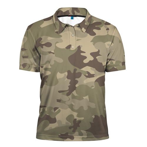 Мужская рубашка поло 3D Хаки камуфляж
