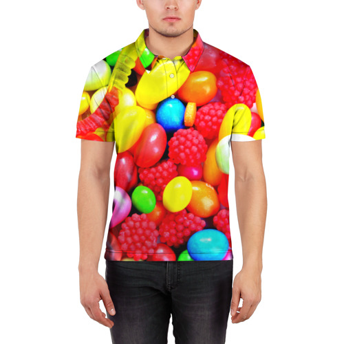 Мужская рубашка поло 3D  Фото 03, Sweet Candy