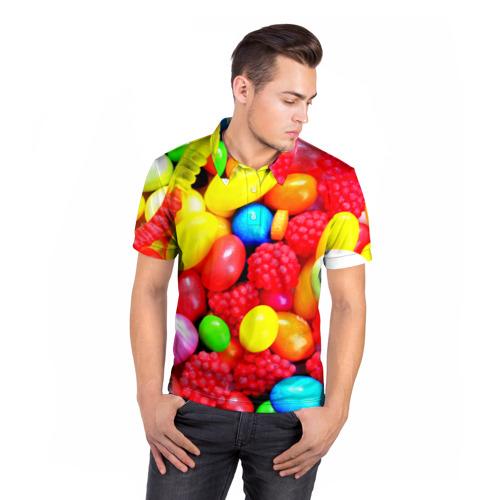 Мужская рубашка поло 3D  Фото 05, Sweet Candy