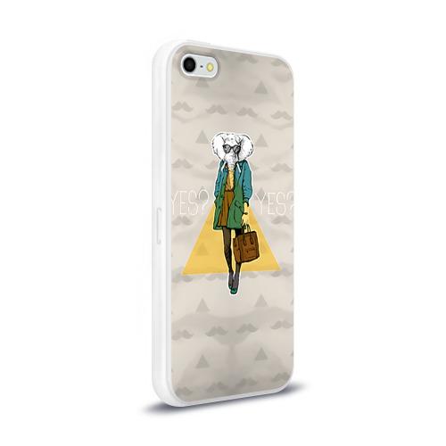 Чехол для Apple iPhone 5/5S силиконовый глянцевый  Фото 02, Хипстер 1