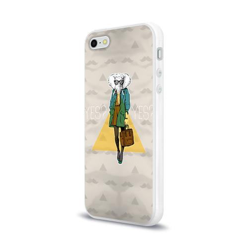 Чехол для Apple iPhone 5/5S силиконовый глянцевый  Фото 03, Хипстер 1
