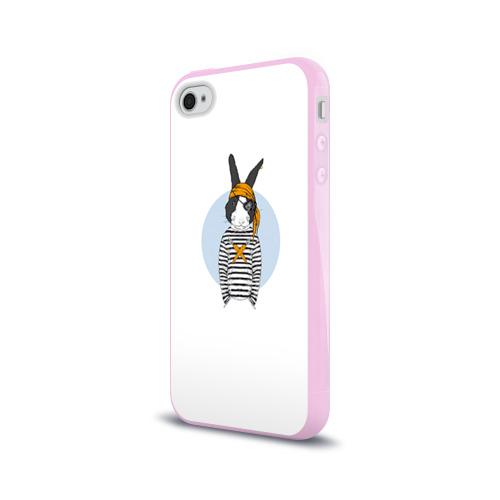 Чехол для Apple iPhone 4/4S силиконовый глянцевый Хипстер 24 Фото 01