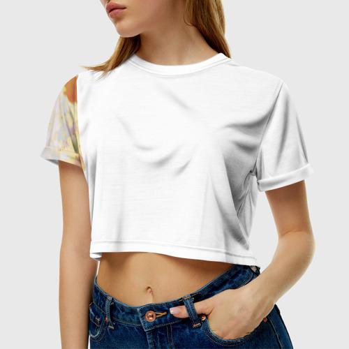 Женская футболка 3D укороченная  Фото 01, Атака титанов