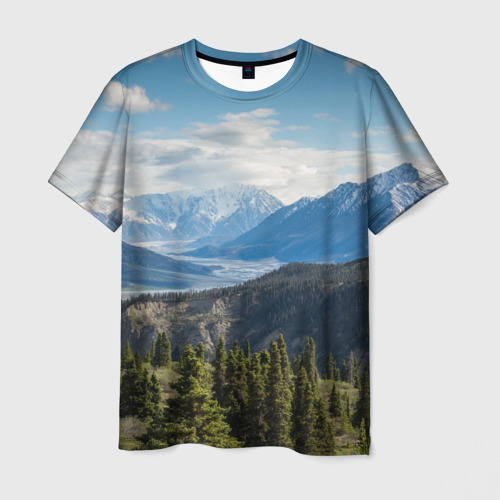 Мужская футболка 3D  Фото 03, Горы