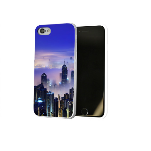Чехол для Apple iPhone 8 силиконовый глянцевый  Фото 02, Город 3