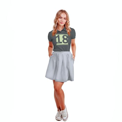 Женская рубашка поло 3D  Фото 04, 18 лет. День рождения