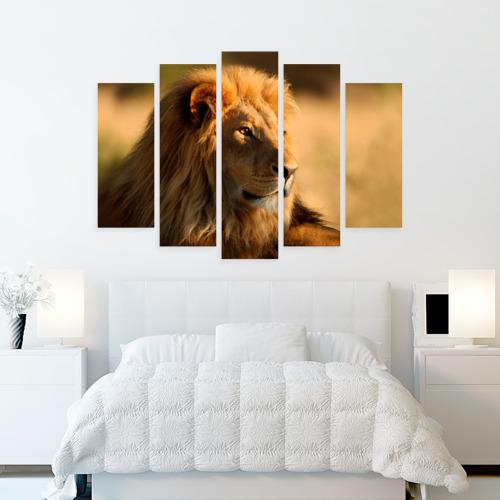 Модульная картина М20  Фото 02, Царь зверей