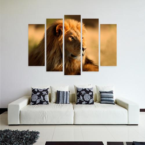 Модульная картина М20  Фото 04, Царь зверей