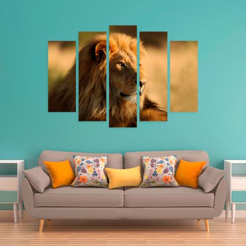Модульная картина М20  Фото 06, Царь зверей