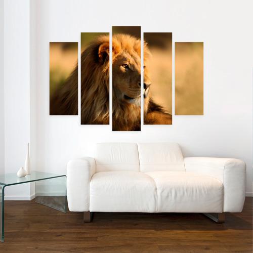 Модульная картина М20  Фото 07, Царь зверей