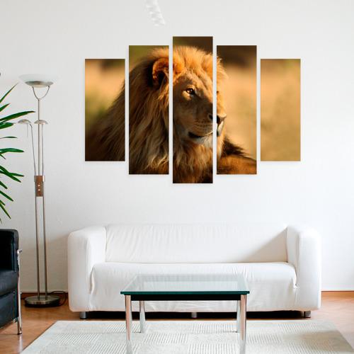 Модульная картина М20  Фото 09, Царь зверей