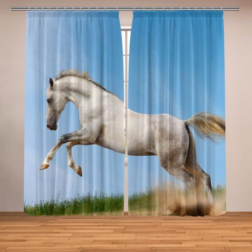 Фотошторы Белый конь