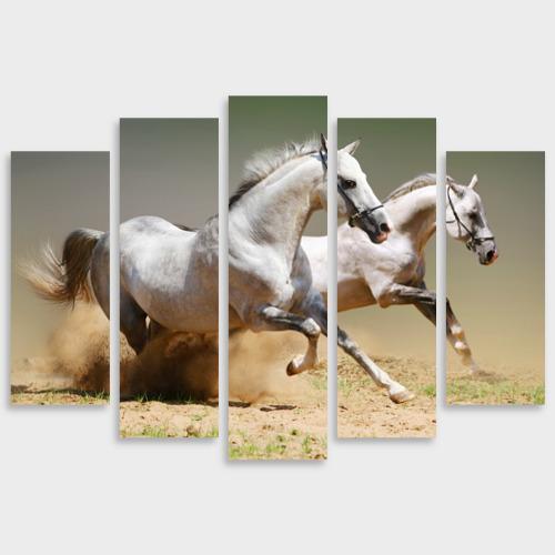 Модульная картина М20 Бегущие кони