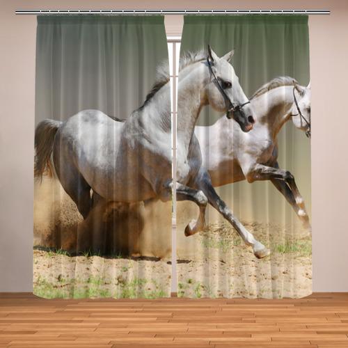 Фотошторы Бегущие кони