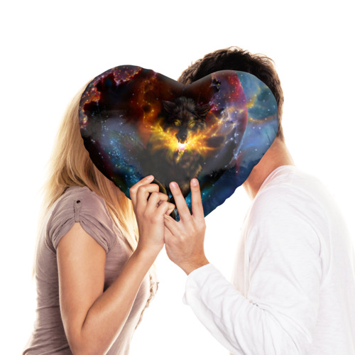 Подушка 3D сердце  Фото 03, Космоволк