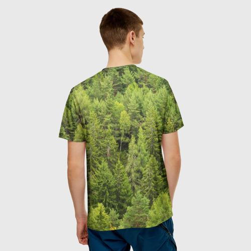 Мужская футболка 3D Тайга Фото 01