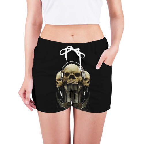 Женские шорты 3D  Фото 03, DJ череп
