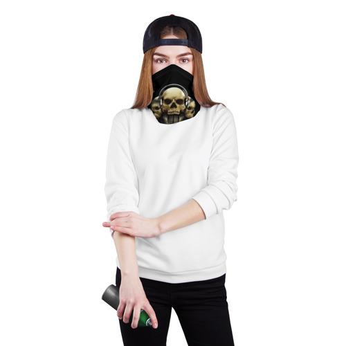 Бандана-труба 3D  Фото 02, DJ череп