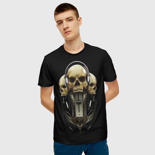 Мужская футболка 3D  Фото 06, DJ череп