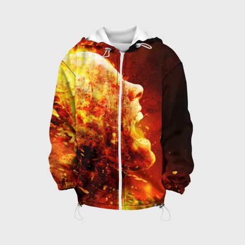 Детская куртка 3D  Фото 01, Пламенная голова