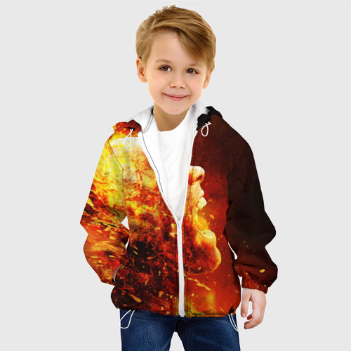 Детская куртка 3D  Фото 03, Пламенная голова